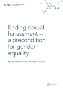 Cover for Ending sexual harassment - a precondition for gender equality
