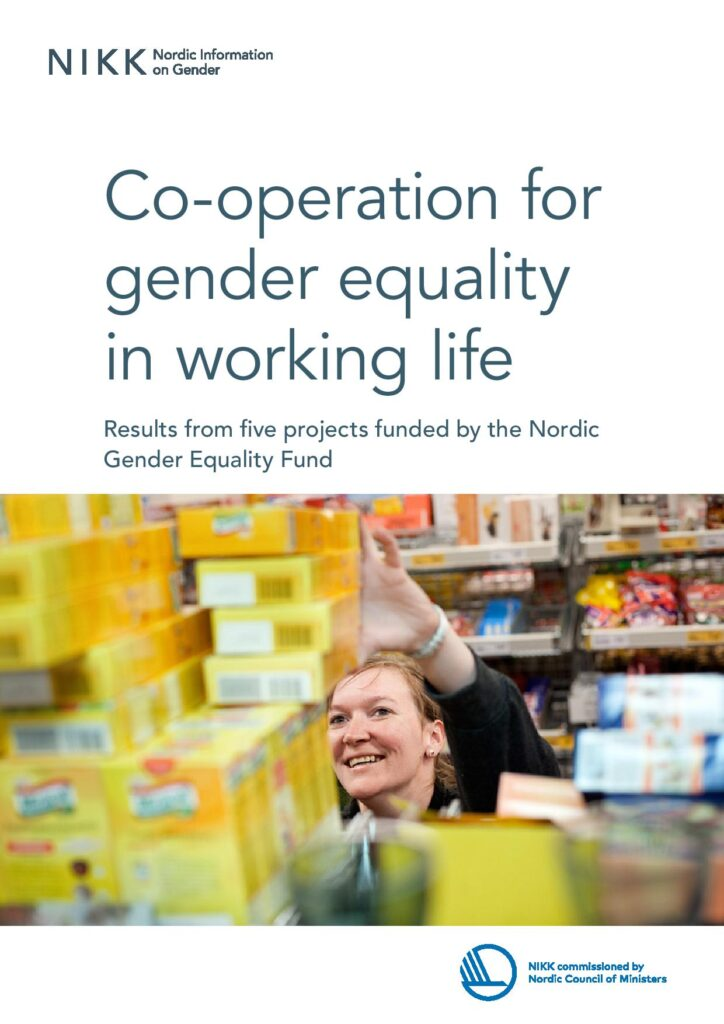 Cover for Co-operation for gender equality in working life