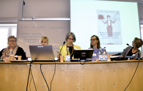 Law and gender panel. Photo: Charlie Olofsson